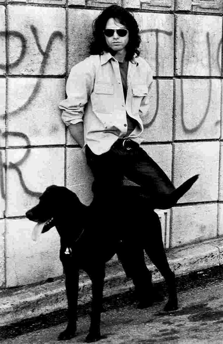 Jim Morrison and and his dog