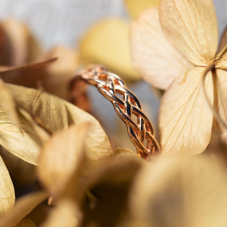 Rose Gold Sterling Silver Engagement Rings with Celtic Knot 4mm