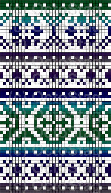 Gradient Fair Isle Pattern