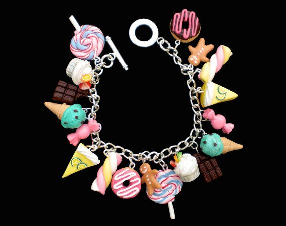 Kawaii Loaded Sweets and Desserts Charm by KooKeeJewellery on Etsy, $29.99