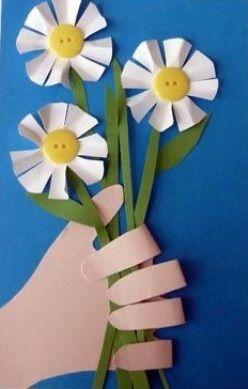 Самодельная открытка к 8 марта - Сайт для мам малышей