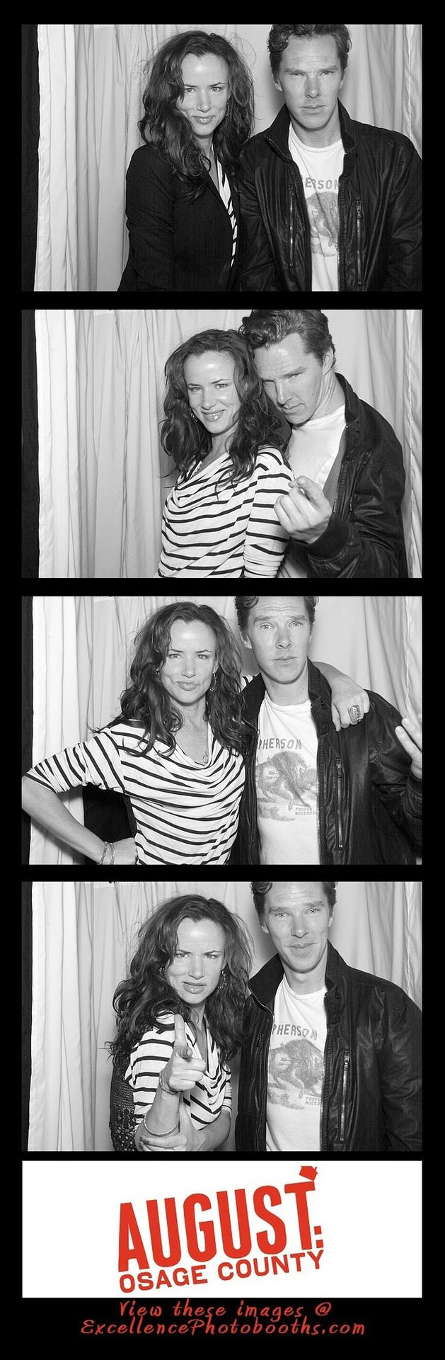 juliette lewis and benedict cumberbatch @ august: osage county wrap party x  what a tart!!! absolutely love these!!!