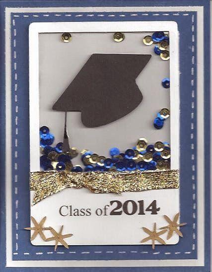classic creations by shawn graduation shaker card - Homemade Graduation Invitations
