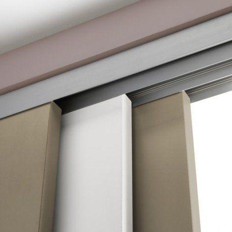 Rail coulissant et habillage aluminium Slide ARTENS pour 3 cloisons de 93 cm
