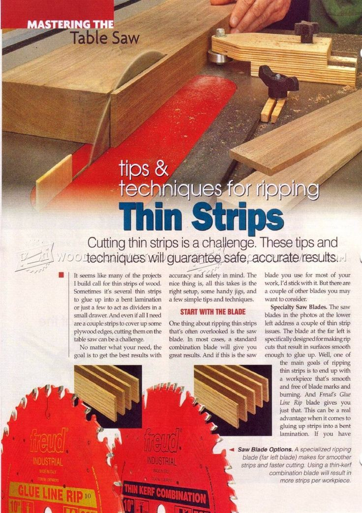 #476 Table Saw Thin Rip Jig - Table Saw Tips, Jigs and Fixtures