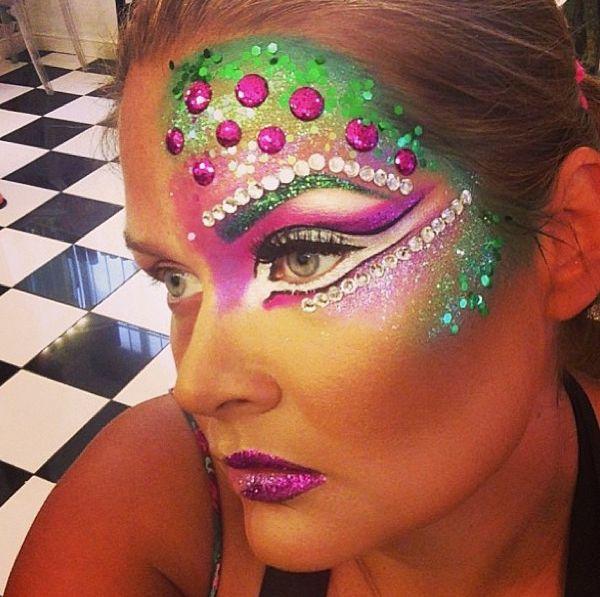 The most beautiful fantasy samba makeup using Illamasqua by Kate from Peaches and Cream!