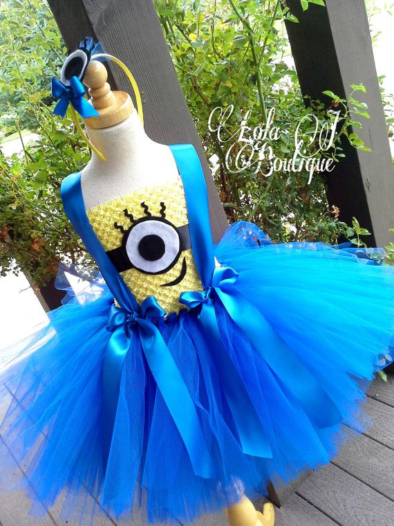 Minion Tutu Dress SET US Shipping INCLUDED Girls by LolaJBoutique