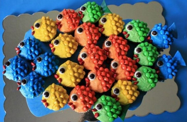 These fish cupcakes will be a big hit at your next party or family get together.