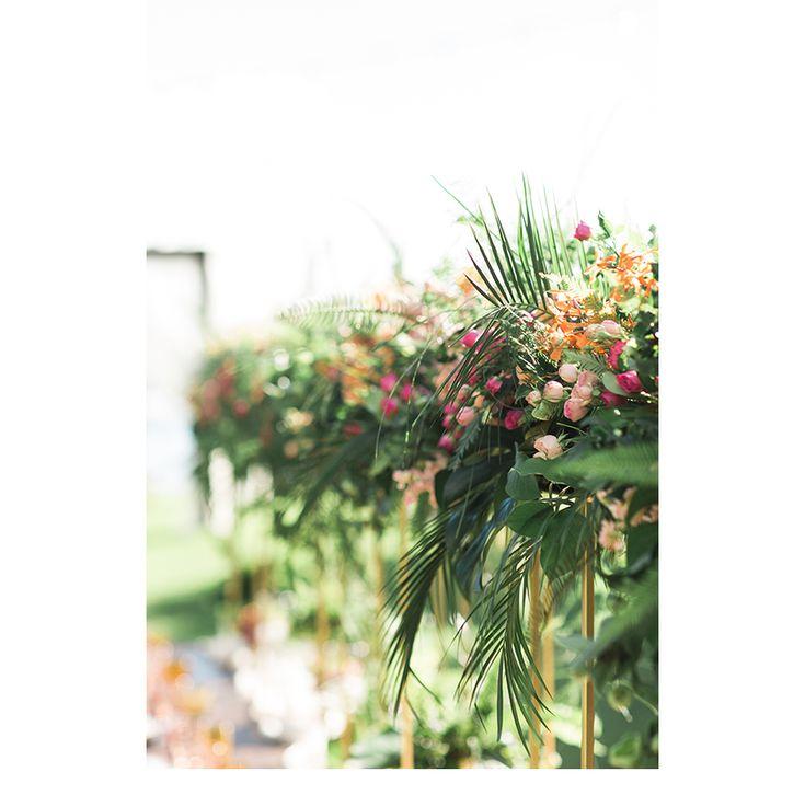 Tropical flowers from Hawaiian wedding at Olowalu Plantation House in Maui -  Dmitri and Sandra Photographers  #hawaiianwedding#weddinginhawaii#hawaiiweddingideas#destinationweddinghawaii#olowaluplantationhouse#mauiwedding