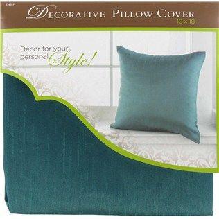 18 X Aqua Poly Silk Decorative Pillow Cover Hobby Lobby 399