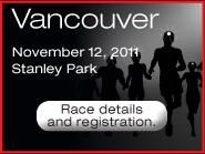 Energizer Night Race 10km Vancouver November 12th 2011