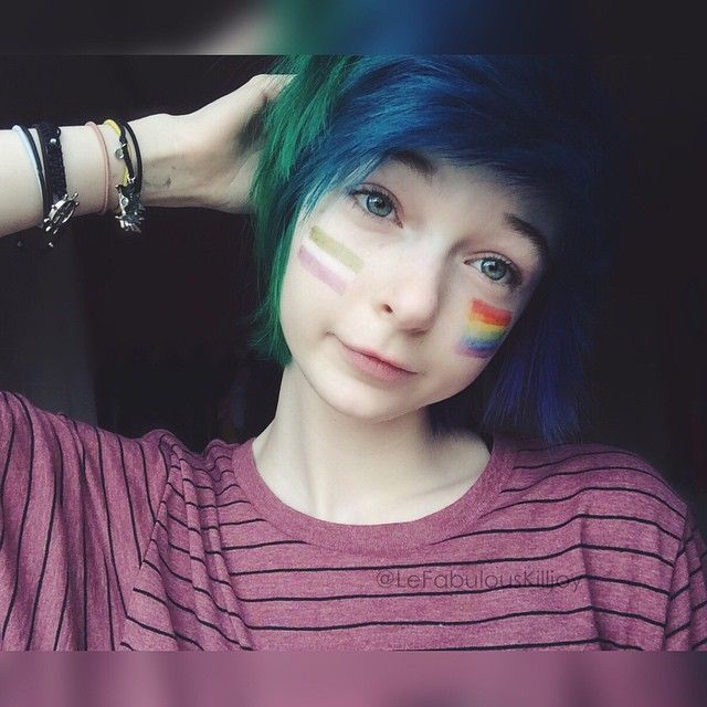 I am me and I'm not going to change for anyone, and don't you either (•^•)z #genderqueer #lgbt