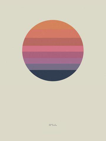 "Awake Album Poster ""Sun"" (Lithograph) – ISO50 / Tycho Shop"
