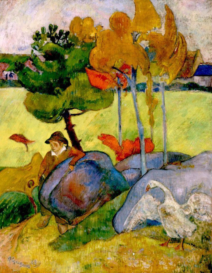 Breton Boy in a Landscape (1889) Paul Gauguin