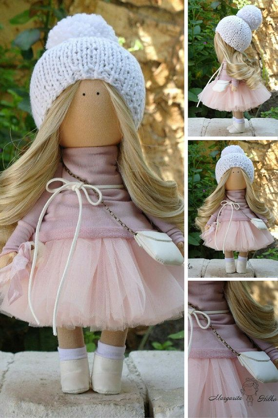 Textile doll Soft doll Rag doll Fabric doll от AnnKirillartPlace