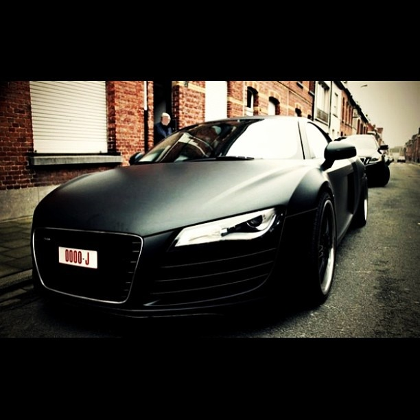 Matte Black Audi R8 | Luxury Car Lifestyle | Pinterest ...