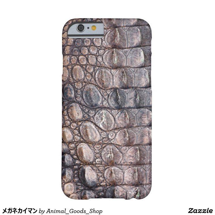 メガネカイマン iPhone 6 ベアリーゼアケース
