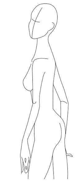 full figure croquis   Body Figures & Accessories Templates - The Fashion Designer Shop