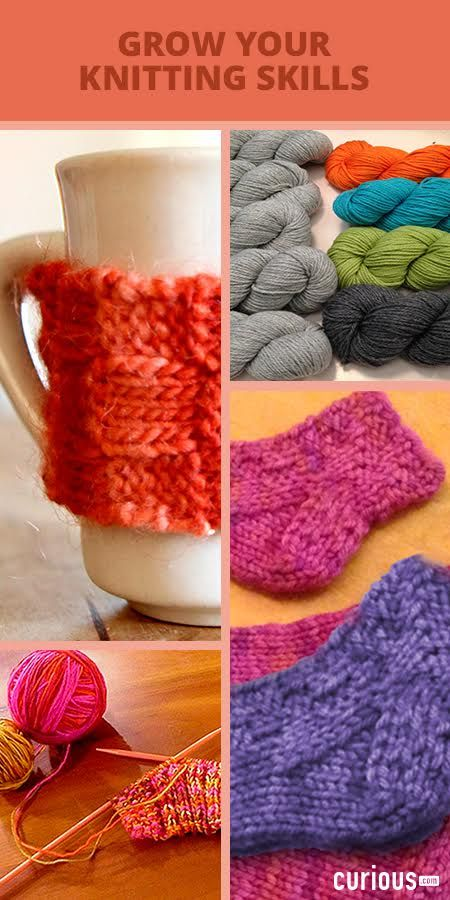 Grow your knitting skills! From the basics of casting on, to more advanced stitches and patterns - master knitting (and more!) with 15k+ video lessons!