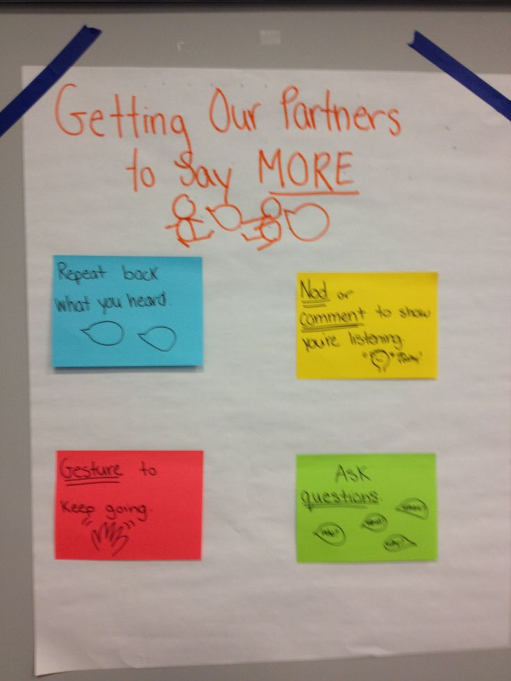 Getting our partners to say more #tcrwp