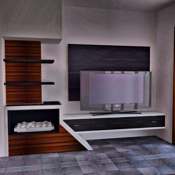 Modern Interior design tv unit for an open lounge room