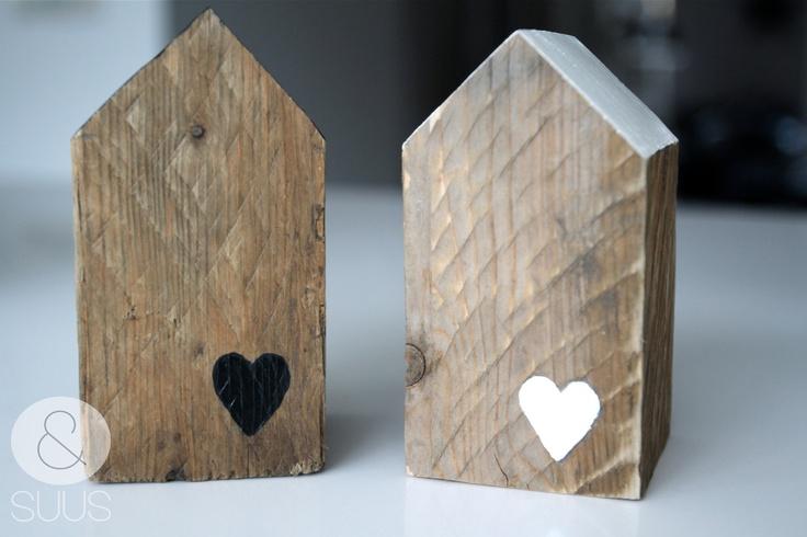 Huisjes van oud hout.