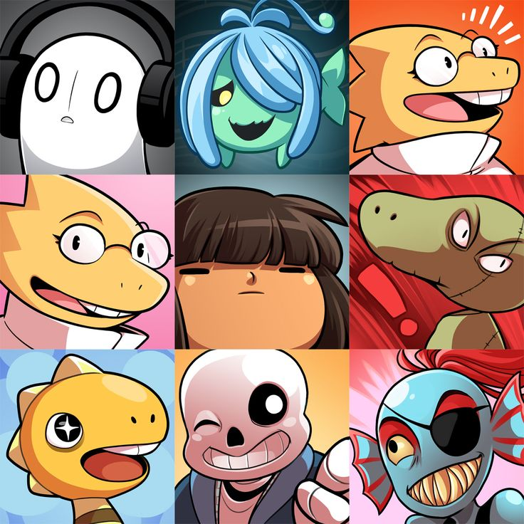 Some random avatars I drew with art not already featured here :0 these are free ta use if you're looking for an undertaleitar