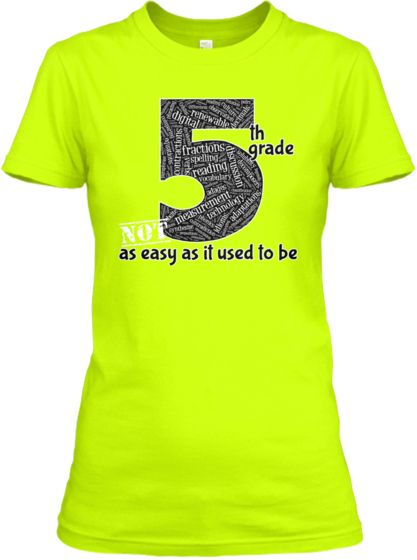 """Classroom T Shirt Design ~ """" th grade is not easy t shirt available now at buy"""