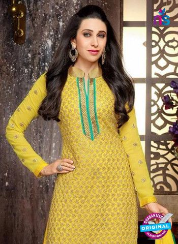 Elezita 58011 Yellow and Green Georgette Straight Suit