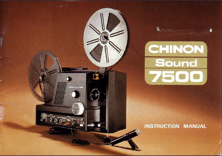 CHINON SOUND SUPER 8mm PROJECTOR Model 7500