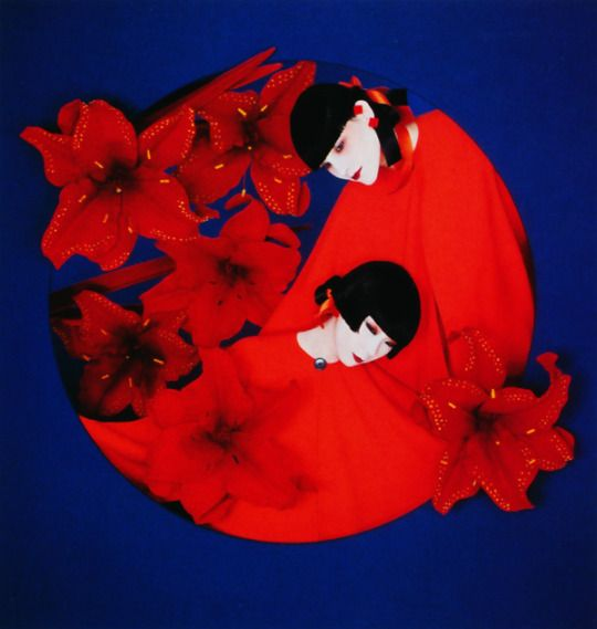 Yamaguchi Sayoko 山口 小夜子 (1949-2007) for Shiseido 資生堂 - Design by Serge Lutens - Japan - 1980s