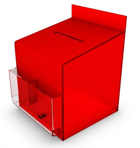 Red Comment / Suggestion Box, Counter or Wall Mountable