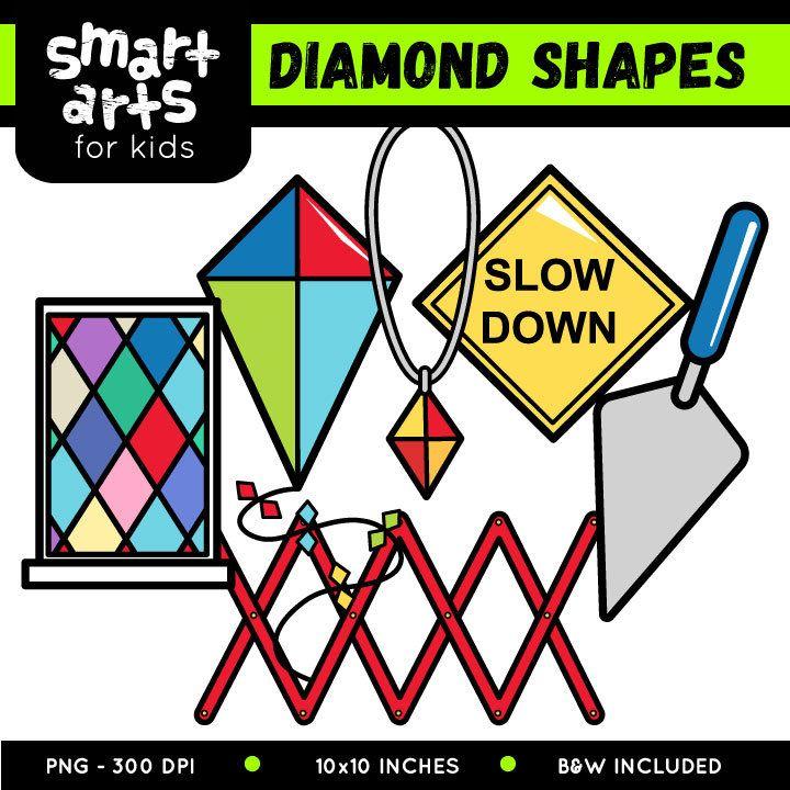 Diamond Rhombus Shapes Clip Art Educational Clip Arts Clip Art Shape Art Shapes
