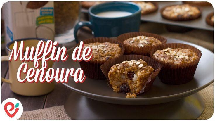 Muffin Integral de Cenoura - Parceria Ducoco