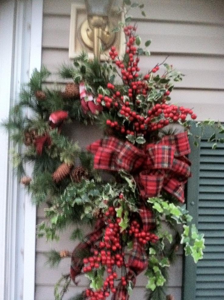 My front door christmas wreath work winter pinterest for Front door xmas wreaths