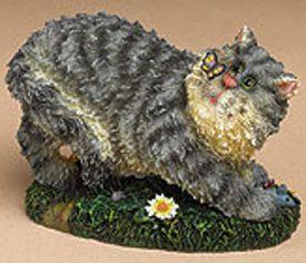 """Boyds Cattitudes Nosey Серый Тигр Kitten - (Введено Весна 2004 и был отвергнут )  Nosey в пытаюсь вздремнуть, но сохраняет Бейн """"беспокоит бабочка! Наша нахальный жирный кот лежит на скульптурные """"травы"""" базы, особенности тонкими усами, и ветер до мыши на его стороне. Цитата: """"Кошки предназначены, чтобы научить нас, что не все в природе имеет функцию."""" - Анонимный3 1/4 """"$ 16.99"""