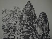 świątynia Bayon Kambodża | digart | digart.pl Ferens design Joanna Ferens - Hofman portret rysunek