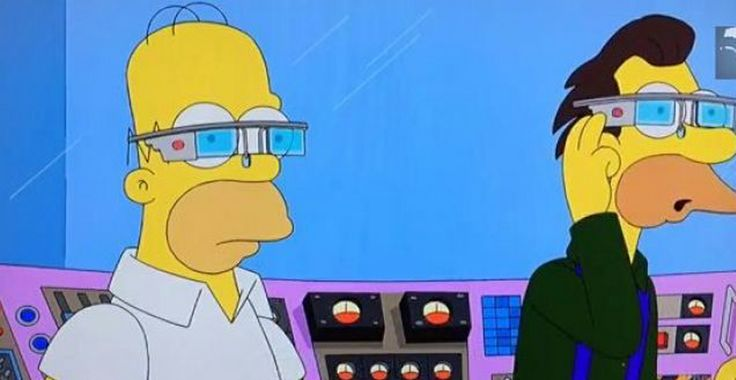 Los Simpson se burlan de Google Glass