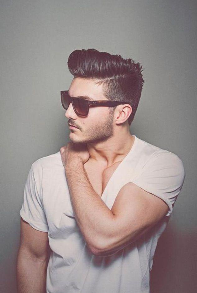 perfect hard part haircut