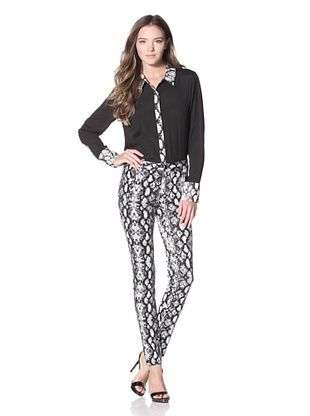 Calvin Klein Women's Printed Slim Pant