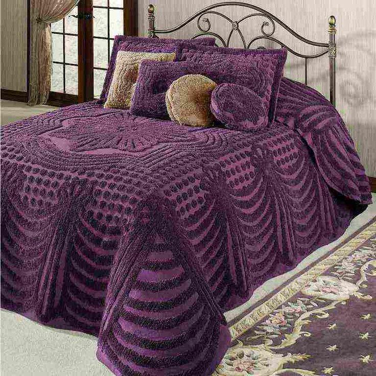 Purple Chenille Bedspread