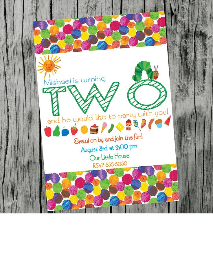 The 25 best Free thank you cards ideas – Eric Carle Birthday Invitations