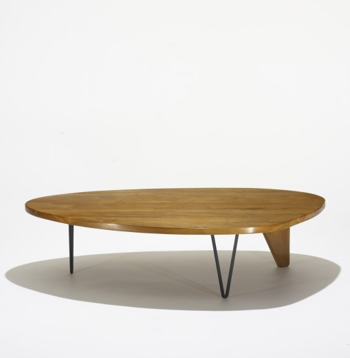 Perfect Luther Conover, Walnut And Enameled Steel Coffee Table, C1955.