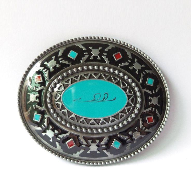 Western Brass Cool Belt Buckles CowBoy Metal Buckles Suitable For 4cm Width Belt Drop shipping