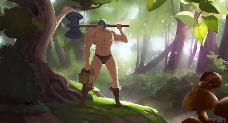 Mushroom picking by StephanBored.deviantart.com on @DeviantArt