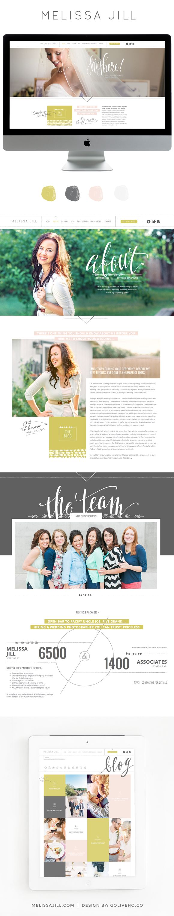 Melissa Jill blog design More Beautiful Website, Blog Layout, Web Design, Buttons, Big Fonts, Websitedesign Webdesign, Blog Designs, Arrows Points, Website Designs Love the big font and the entire design of this Beautiful website by golive arrows pointing for subscribe button the collage of images at the bottom that are clickable #websitedesign #webdesign #crosiercreative #webdesigner Great website design. Its a little busy in other sections, but I love how the entire website utilizes the…
