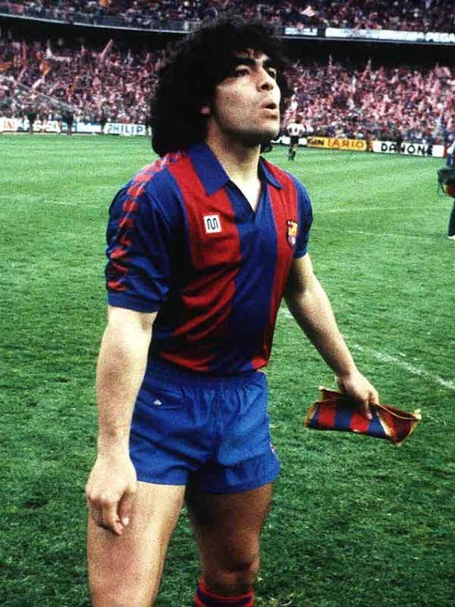 Maradona en la seva etapa com a jugador del FC Barcelona
