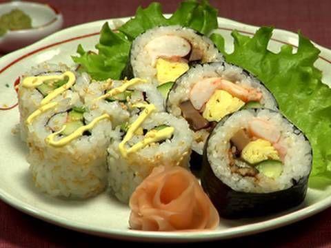 ▶ How to Make Futomaki Sushi and California Roll 太巻き寿司 カリフォルニアロール 作り方 レシピ - YouTube