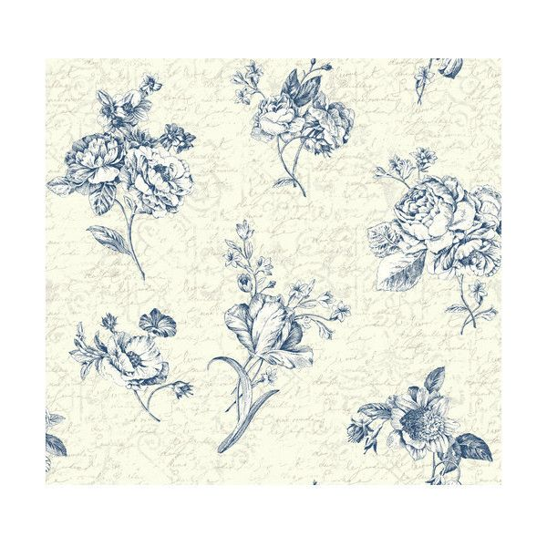 york wallcoverings er8144 waverly cottage picture perfect wallpaper 71 liked on polyvore featuring - Flower Wallpaper For Home