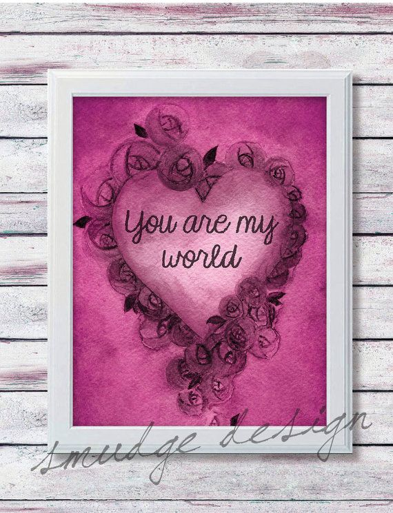 Valentines Day 8x10 Printable PRINTABLE by SmudgeCreativeDesign